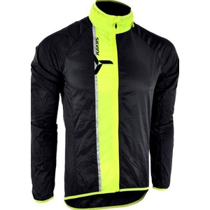 Men ultra light jacket Silvini GELA MJ801 black-neon, Silvini