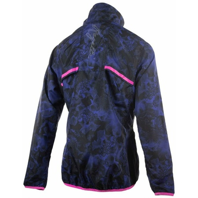 Women running anorak Rogelli COSMIC, black-blue-pink 840.866, Rogelli