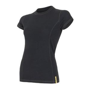 Women shirt Sensor Double Face Merino Wool black 15100017, Sensor