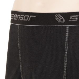 Men boxer shorts Sensor Double Face black 16200050, Sensor