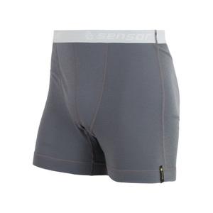 Men boxer shorts Sensor Double Face gray 16200049, Sensor