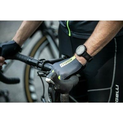 Cycling gloves Rogelli PACE, gray-reflective yellow 006.382, Rogelli