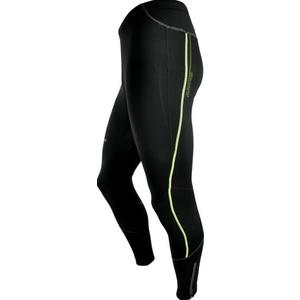 Men elastic insulated pants Silvini Movenza MP336 black-neon, Silvini