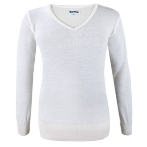 Women's sweater Kama 5101 101 naturally white, Kama