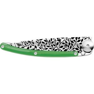 Knife Deejo TATTOO Colors 27G. green 'temperament' 9AP021, Deejo
