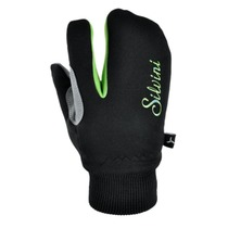 Children gloves Silvini TEXEL CA1140 black-green, Silvini