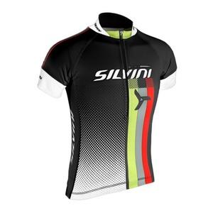 Children cycling jersey Silvini TEAM kids CD842K black, Silvini
