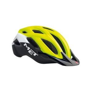 Helmet MET Crossover reflection yellow / white / black, Met