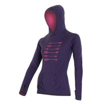 Women hoodie Sensor Merino arrows purple 16200128, Sensor