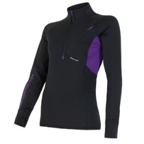 Women hoodie Sensor Tecnostretch black purple 15200044, Sensor