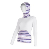 Women hoodie Sensor Tecnostretch pattern with hood white 16200134, Sensor