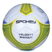 Football ball Spokey VELOCITY SHINOUT white-yellow č.5, Spokey