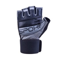 Fitness gloves Spokey Guanta II black and gray, Spokey