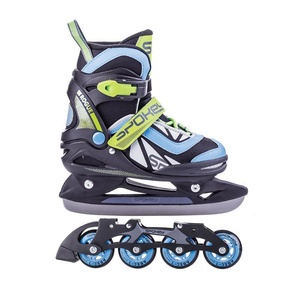 Skates winter I summer Spokey ROGUE adjustable, black and blue, Spokey