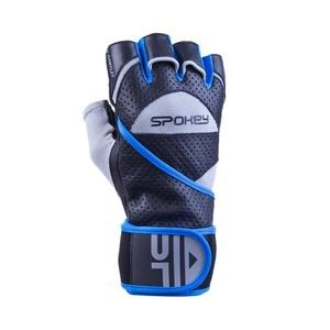 Fitness gloves Spokey GANTLET II black and blue, Spokey