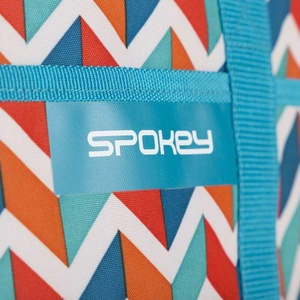 Beach thermal bag Spokey ACAPULCO blue zigzag, 39 x 15 x 27 cm, Spokey