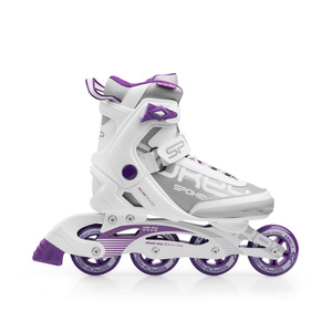 Roller skates Spokey PRIME white-purple, Spokey