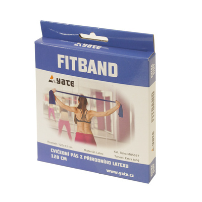 Exercise belt Fit Band 120X12cm, tough, blue, Yate