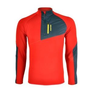 Men hoodie Silvini FERRATO MJ1108 red-charcoal, Silvini