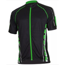 Men cycling jersey Bizioni MD62 black green, Bizioni