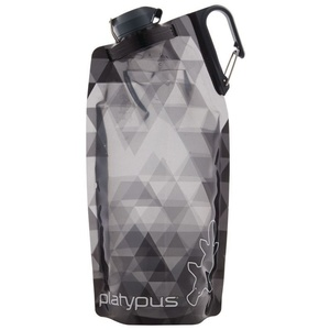 Bottle Platypus DuoLock SoftBottle Gray Prisms 1 l, Platypus