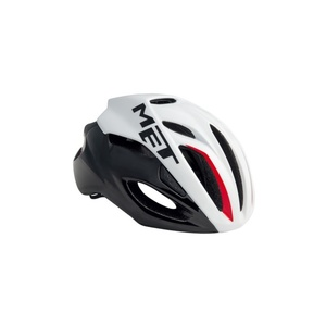 Helmet MET Rivale black / white / red, Met