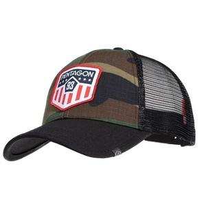 Cap Era Trucker US Flag PENTAGON® US woodland, Pentagon