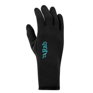 Gloves Rab Power Stretch Contact Glove Women's black / bl, Rab
