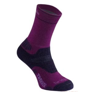 Socks Bridgedale Hike Midweight Merino Comfort Boot Women's berry/352, bridgedale