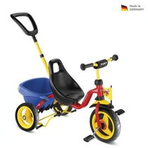 Children red three-wheeler CARRY TOURING TIPPER - CAT 1 S, Puky