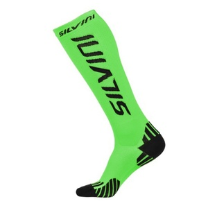 Compression knee socks Silvini Casalone UA562 green, Silvini