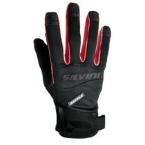 Gloves Silvini FUSARO UA745 black-red, Silvini