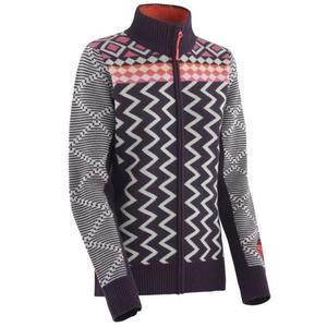 Woolen sweater Kari Traa Vinje F / Z Knit Mauve, Kari Traa