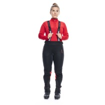 Women pants to cross country skiis Silvini Oatsca WP1111 black-red, Silvini
