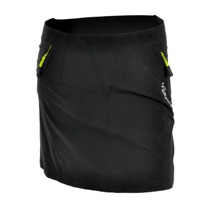 Women cycling skirt Silvini Invite WS859 black-lime, Silvini
