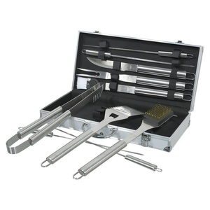 BBQ tools set 11 pc Cattara ALU case, Cattara