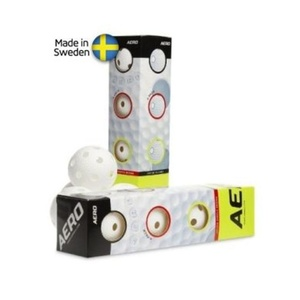 Set floorball balls Salming Aero Ball 4-pack White