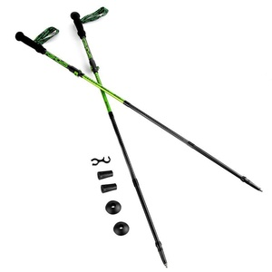 Trekking sticks 4-dílné Spokey SKY RUN ALU grey-green, Spokey
