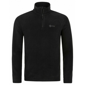 Men fleece sweatshirt Kilpi ALMERI-M Black, Kilpi