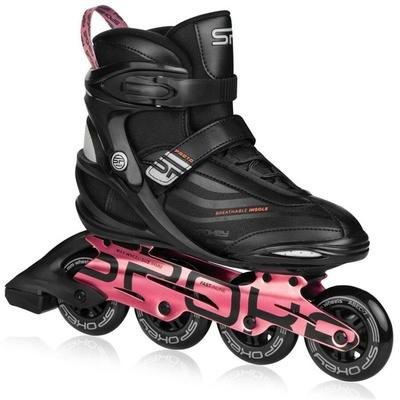 Roller skates Spokey PRETO black and pink, Spokey