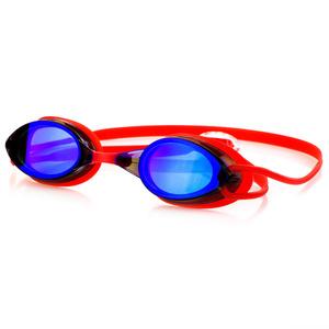 Swimming glasses Spokey SPARKI red, mirror lenses
