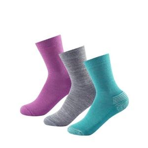 Children socks Devold Daily Medium Kid Sock 3Pk Girl Mix SC 593 023 A 370A, Devold