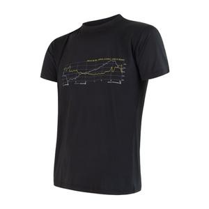Men shirt Sensor COOLMAX FRESH PT TRACK black 17200048, Sensor