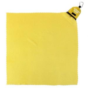 Quick-drying towel Spokey NEMO 40x40 cm yellow with karabinouu, Spokey