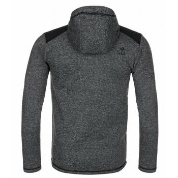 Men fleece sweatshirt Kilpi D ALB YM Black, Kilpi