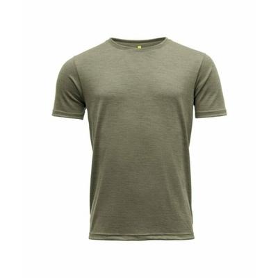Men's wool T-shirt with short sleeves Devold Eika GO 181 280 B 404A green, Devold