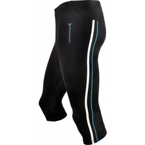 Men 3/4 running pants Silvini Lambro MP386 black-sky, Silvini