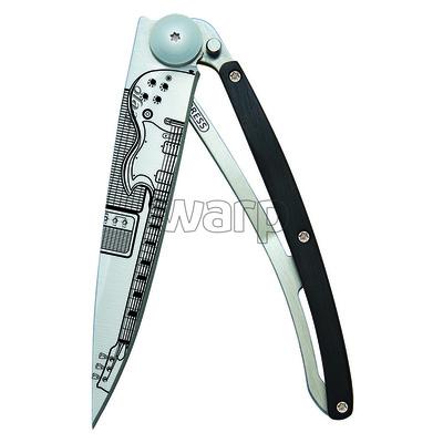 Pocket knife Deejo 1CB061 Tattoo 37g, ebony wood Rock N Roll, Deejo
