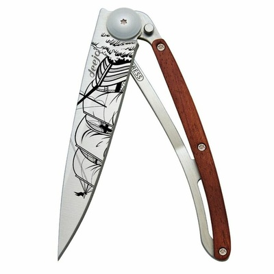 Pocket knife Deejo 1CB063 Tattoo 37g, Coralwood Corsair, Deejo