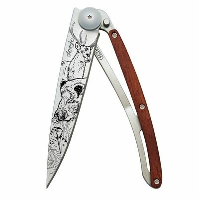 Pocket knife Deejo 1CB067 Tattoo 37g, Ebony Wood Zen, Deejo